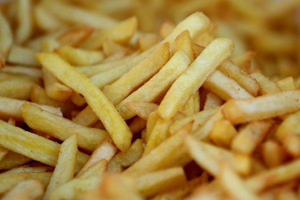 Les traditionnelles frites belges.