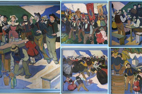 Les cinq tableaux monumentaux de Pierre de Belay ont été acquis par  la ville de Quimper à 250 000€