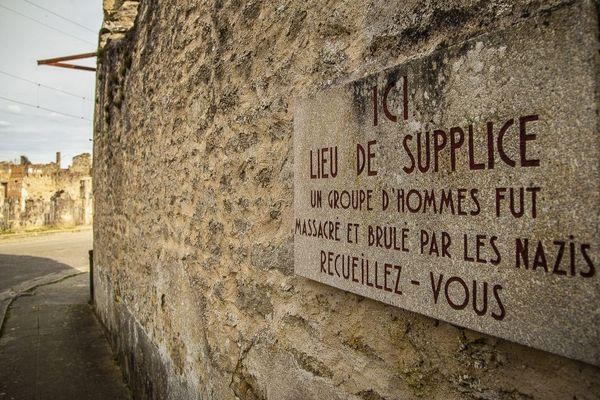 Le massacre d'Oradour-sur-Glane, point culminant des violences commises par les hommes d ela Das Reich en juin 1944.