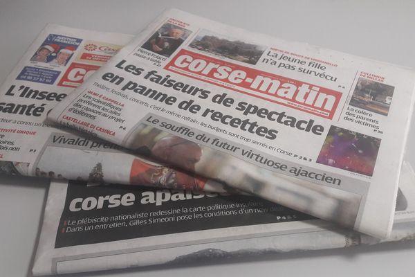 Corsica Maritima pourrait entrer au capital de Corse Matin à hauteur de 35% dès le premier trimestre 2018.