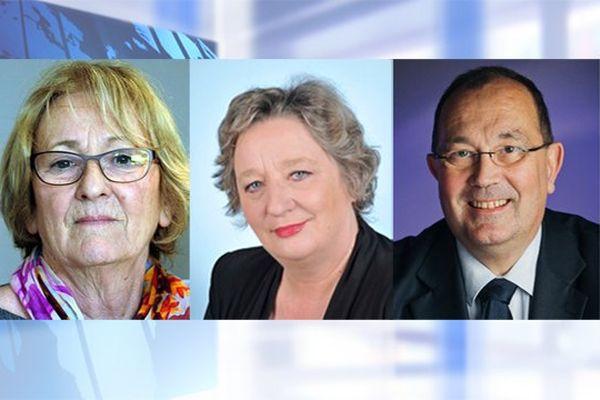 Genviève Gaillard, députée des Deux-Sèvres, Maryline Reynaud et Jérôme Lambert, députés de Charente