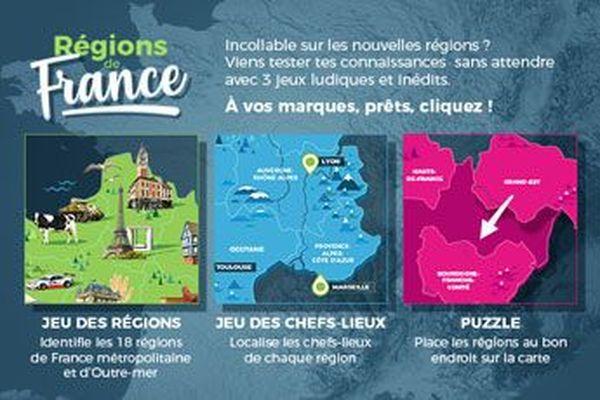 Trois jeux sur les régions de France à tester