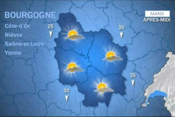 Les prévisions de Météo France mardi 20 octobre après-midi