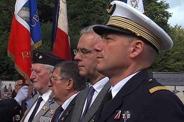 François Cornut-Gentille, maire de Saint-Dizier aux cérémonies du 14 juillet 2014.