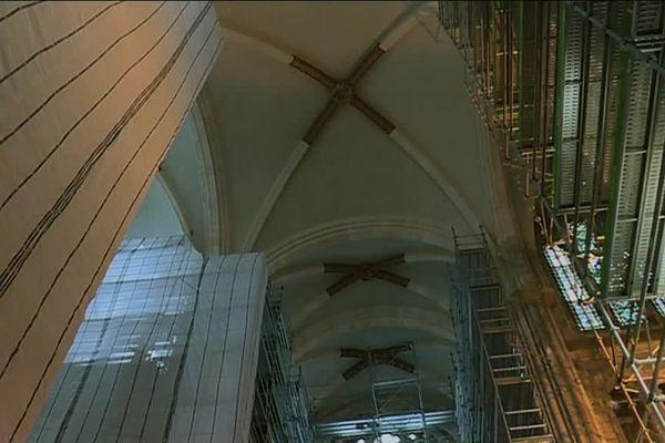 Les travaux de reconstruction de la basilique Saint-Donatien à Nantes sont en cours