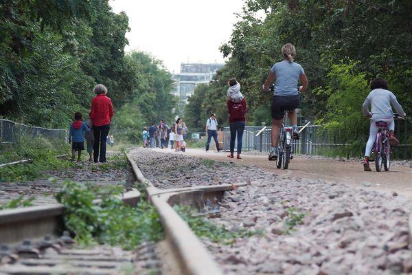 Une promenade aménagée sur une portion de la Petite ceinture, située dans le 15e arrondissement de Paris.