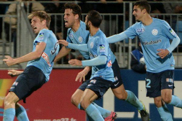 Le Tours FC contre Angers en 16es de finale de la Coupe de la Ligue, le 27 octobre 2015.