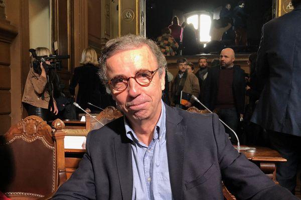 Pierre Hurmic, élu Europe Ecologie les Verts au Conseil municipal de Bordeaux, le 7 mars 2019.