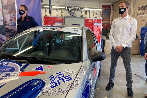 Le champion de rallye Sébastien Ogier était de passage ce mercredi 15 septembre au lycée professionnel Roger-Claustres de Clermont-Ferrand.