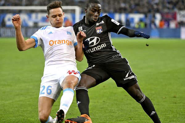 Florian Thauvin lors du match contre Lyon le 18 mars 2018.