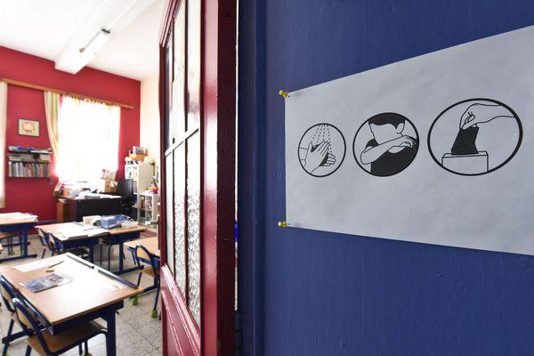 Une école pendant le confinement à cause du Covid-19. (Illustration)