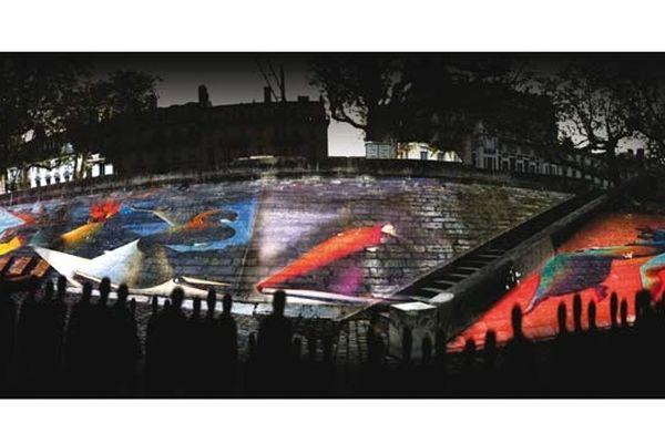 Eclat – Fresque interactive Lorenzo Mattotti – Fabien Coll ini - E-magineurs – Petit Homme Interactiv'
