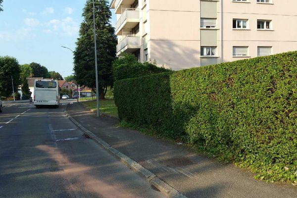 C'est dans cette rue de Belfort que l'accident s'est produit