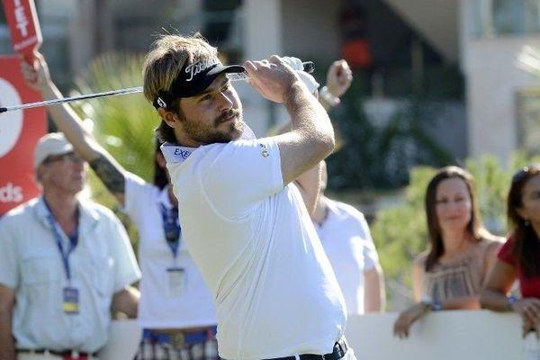 Victor Dubuisson à l'oeuvre lors de l'Open de Turquie.