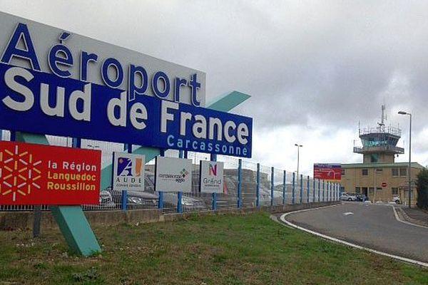 Carcassonne-Salvaza (Aude) - l'aéroport - février 2016.