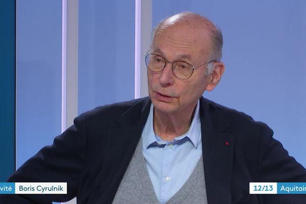 Boris Cyrulnik, invité du 12/13 de France 3 Aquitaine le 10 mars 21.