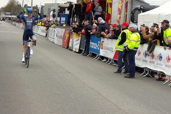 Ole Forfang a remporté la quatrième étape du Tour de Normandie 2019 à Argentan ce jeudi 28 mars