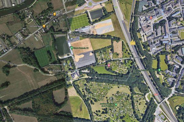 Vue satellite du site concerné