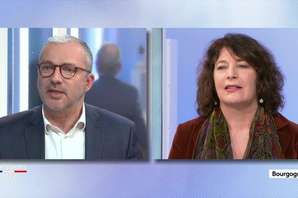 Municipales 2020 Nevers :  Denis Thuriot (LREM) et Nathalie Charvy (EELV-PCF)