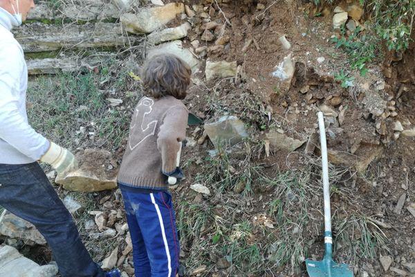 Gabriel, 10 ans, bénévole à Breil-sur-Roya.