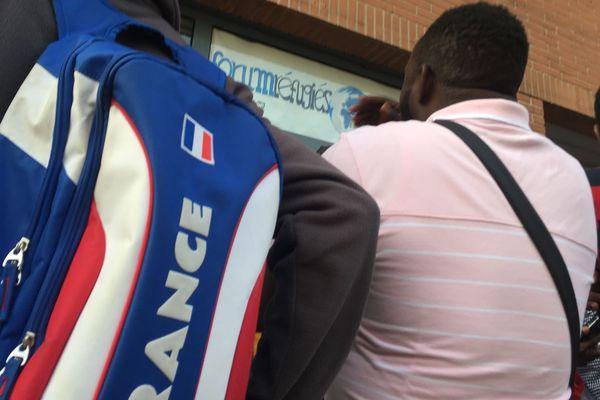 Des demandeurs d'asile à Toulouse