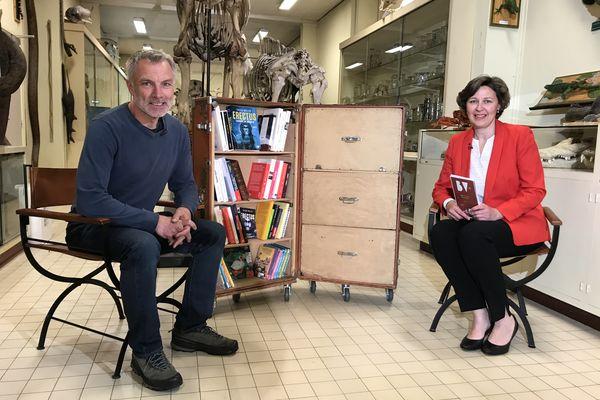 La Bibliothèque vagabonde fait halte dans la galerie de zoologie de l'Université Rennes 1 avec Xavier Müller.