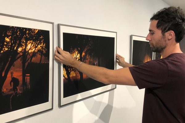Première exposition pour Raphaël Poletti.