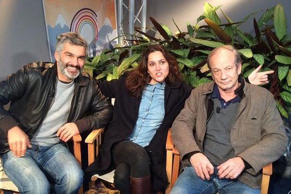 """François Vincentelli, Anne Charrier et Patrick Chesnais, trois acteurs de la série """"Marjorie, conseillère en séduction"""""""