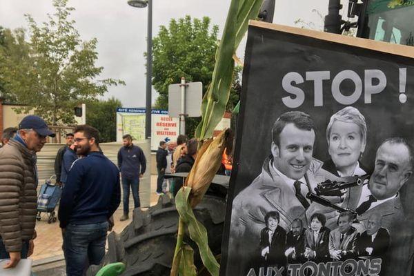 (Archives) Manifestation d'agriculteurs à Orléans le 26 septembre 2019