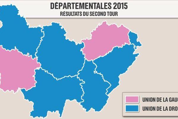 La droite détient désormais 3 départements sur 4 en Franche-Comté, idem en Bourgogne