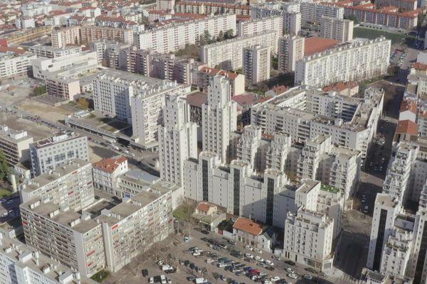 Le quartier Gratte-Ciel à Villeurbanne