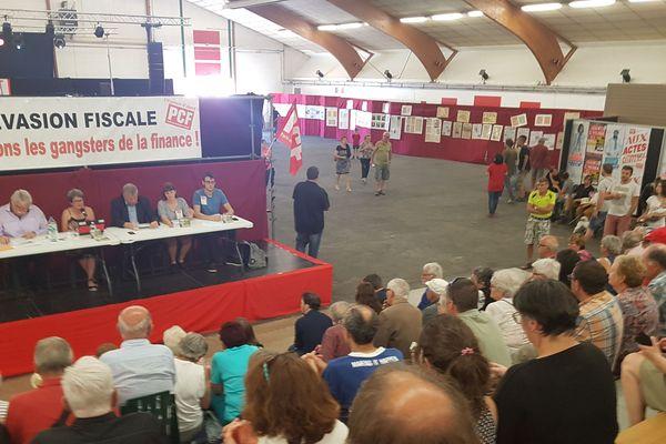 Militants et sympathisants communistes se sont retrouvés le 23 juin pour traditionnelle Fête de l'Huma à Cournon d'Auvergne (Puy-de-Dôme) en présence d'André Chassaigne président du groupe de la  Gauche démocrate et républicaine à l'Assemblée Nationale.