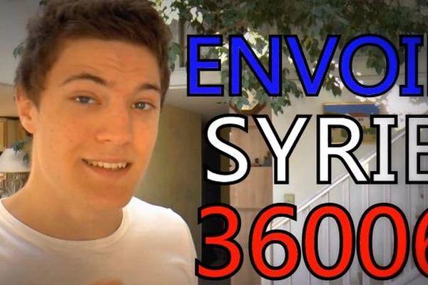 L'auteur de la vidéo postée sur Youtube - la guerre en Syrie