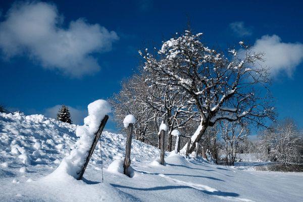 Photo d'illustration | Neige dans le Haut-Jura, le 8 décembre 2020