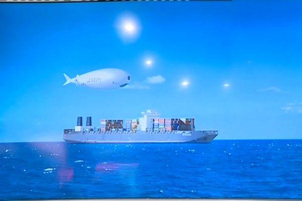 Un dirigeable capable de transporter 60 tonnes de marchandises.
