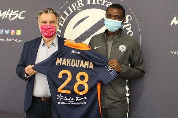 Montpellier : l'international congolais Béni Makouana signe pour 5 ans avec le MHSC - octobre 2020.