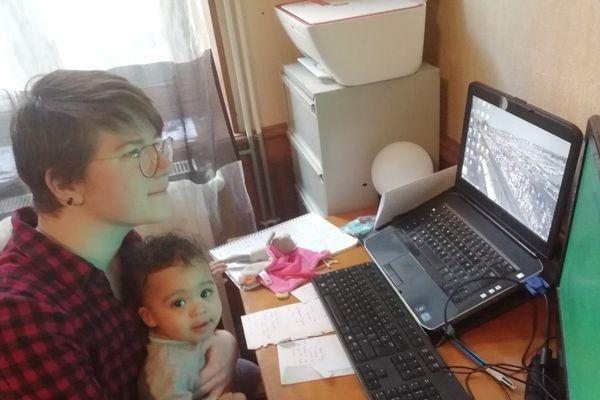 Isalyne et son fils Aël
