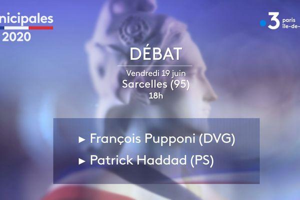 Les candidats à Sarcelles (Val d'Oise) François Pupponi (DVG) et Patrick Haddad (PS) débattent ce vendredi 19 juin.