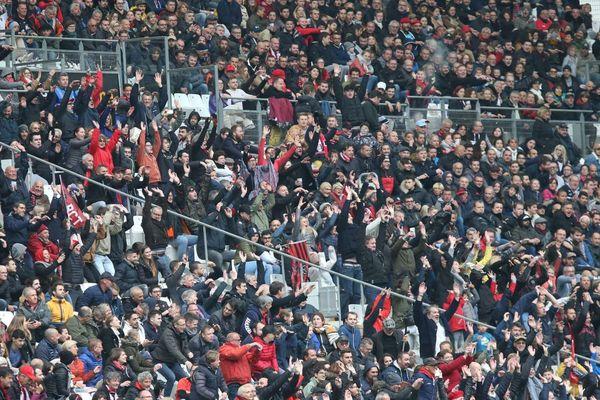 43.089 spectateurs au stade Vélodrome le 6 avril 2019 lors du match de Top 14 Toulon-Toulouse.