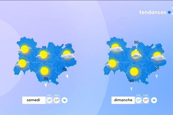Le temps s'annonce estival ce week-end du 14 juillet en Auvergne-Rhône-Alpes.