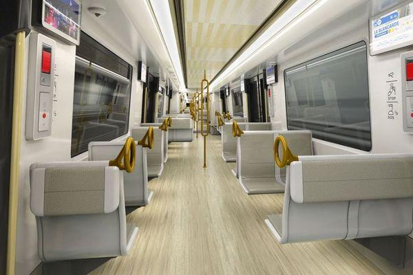 """Vue intérieure du projet de futur métro marseillais """"Ecouter la ville""""."""