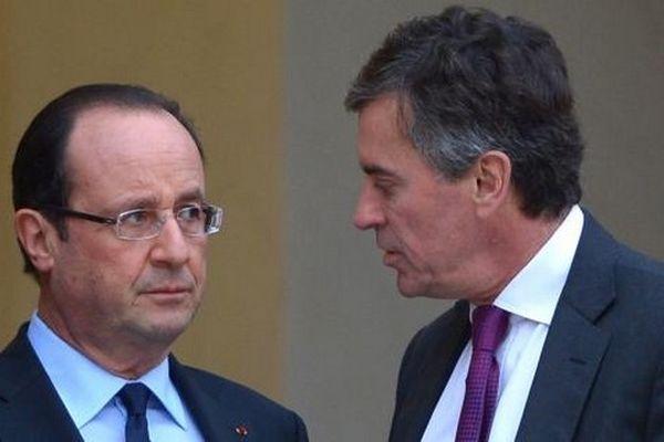 François Hollande et Jérôme Cahuzac, le 4 janvier 2013.