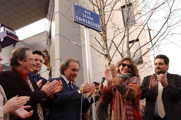 Jane Birkin a inauguré la rue Serge Gainsbourg à Clermont-Ferrand en 2003.