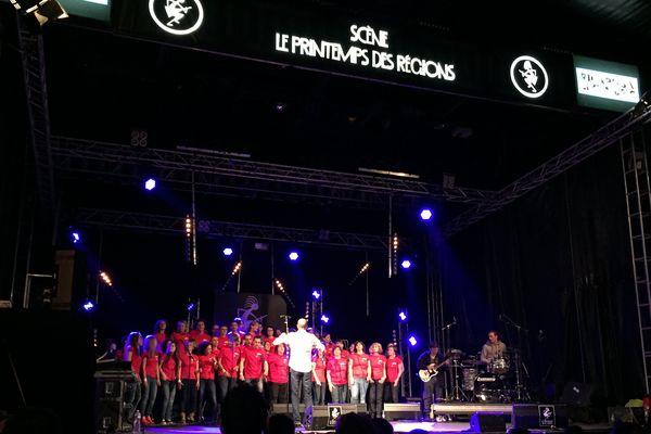 La Grande Chorale de la Coopérative de mai au Printemps de Bourges, le 25 avril 2015.