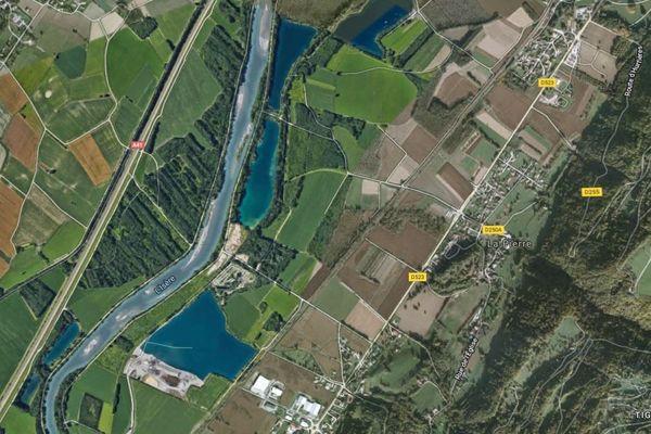 La pollution a eu lieu sur la commune de La Pierre en Isère.