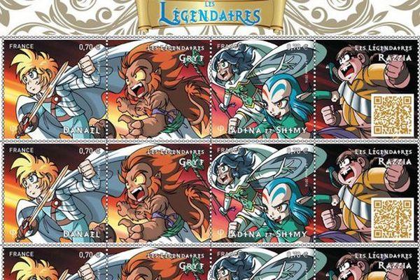 """Un million de timbres """"les Légendaires"""" en vente à partir de lundi 19 septembre"""