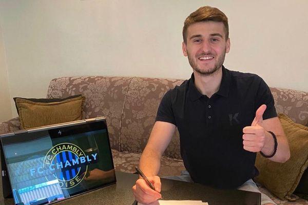 Nikola Petkovic est la nouvelle recrue du FC Chambly Oise