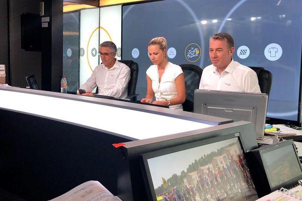 Laurent Jalabert, Marion Rousse et Alexandre Pasteur font partie de l'équipe des commentateurs du Tour de France.