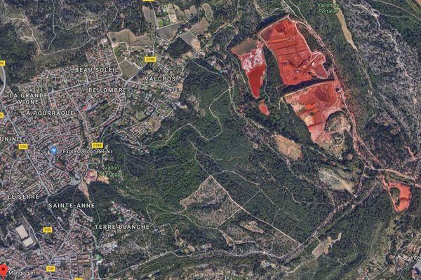 Vue Google Map du site de Bouc Bel Air