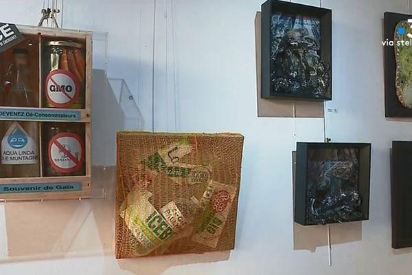 Quelques-unes des oeuvres exposées à la galerie Noir et Blanc à Bastia